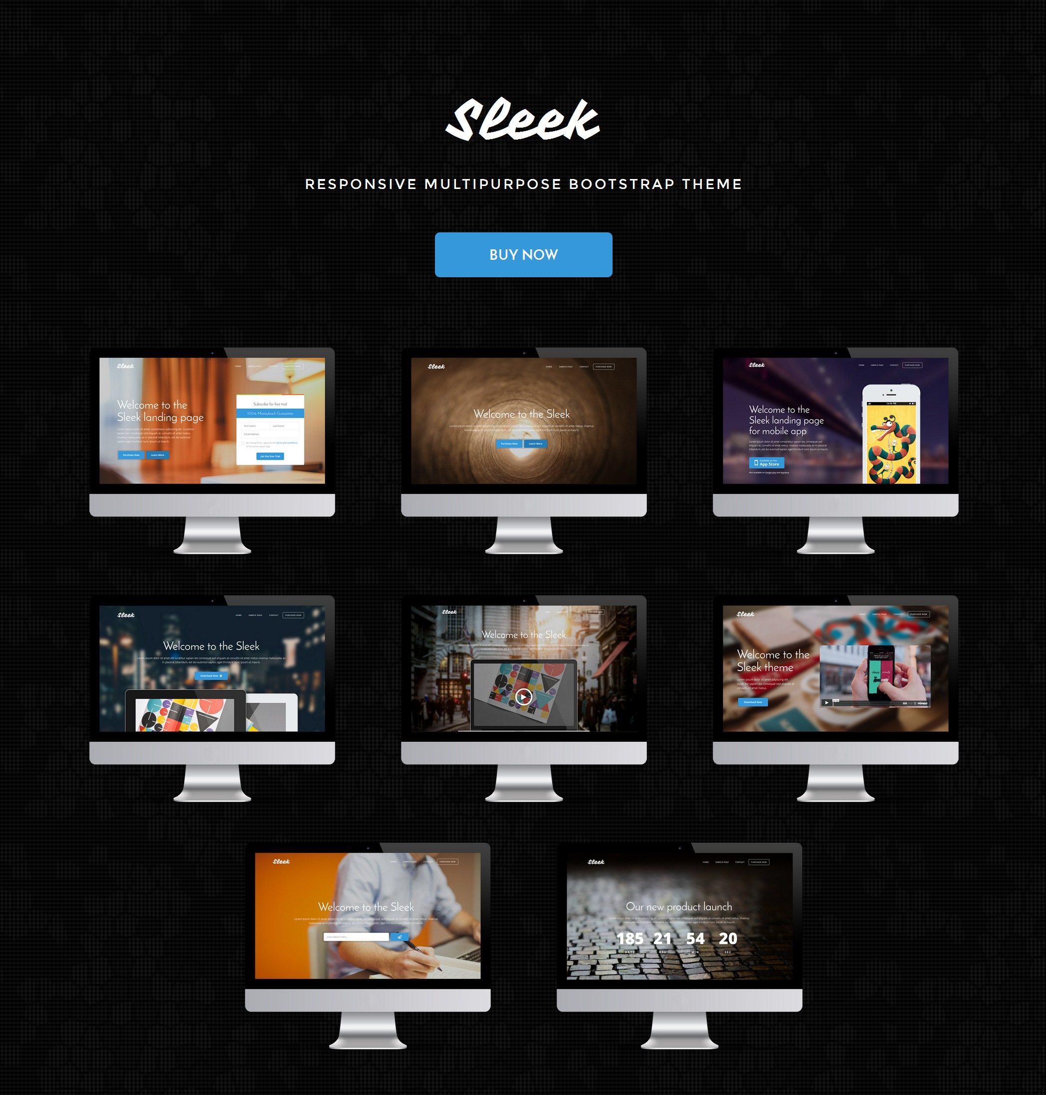 CSS3 Bootstrap OnePage Theme