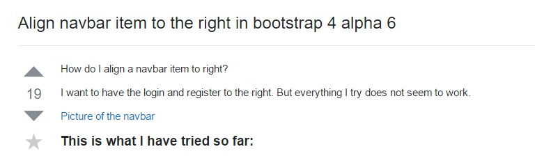 Regulate navbar  thing to the right  inside Bootstrap 4 alpha 6