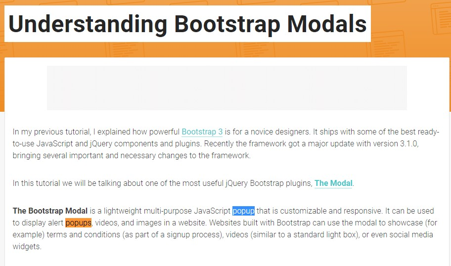 Yet another useful  information  concerning Bootstrap Modal Popup