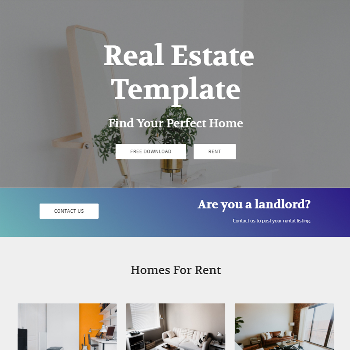 Responsive Bootstrap Real Estate Themes