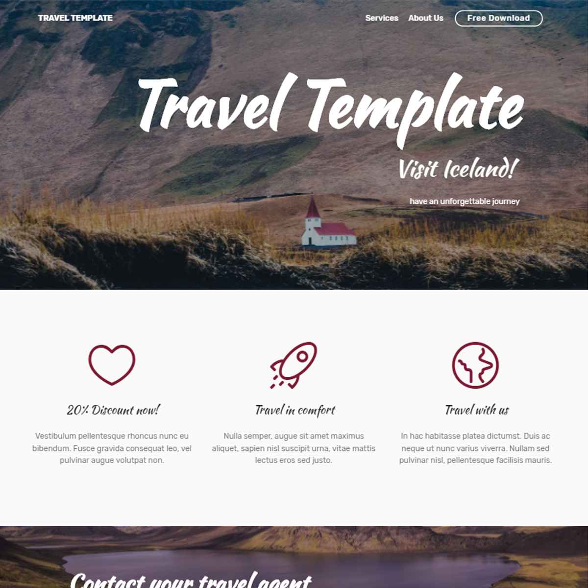 Free Download Bootstrap Travel Themes