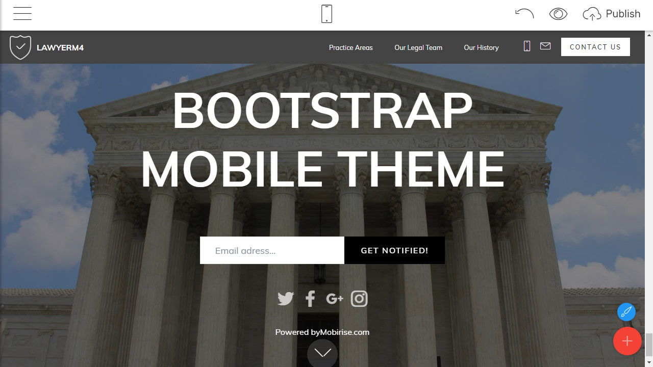 HTML5 Webpage Template