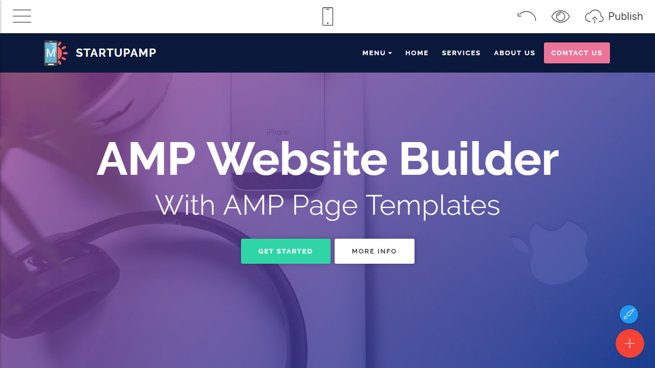 Amp Html Landing Page Template Overview