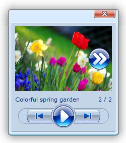photo album website script pop up a dialog