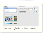 HTML Popup Window Mac version - Thumnails Tab